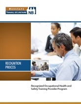 Recognized OHS training provider booklet